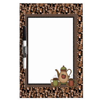 Kitchen Coffee Dry Erase Board