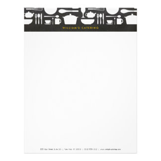 Kitchen Collage on Chalkboard Background Letterhead