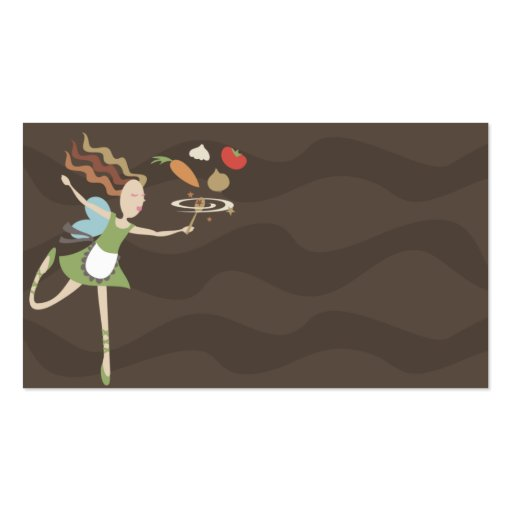 kitchen cooking fairy vegetables business card