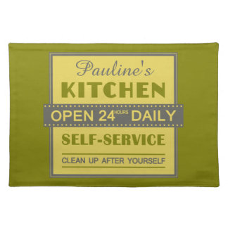 Kitchen – custom name – placemats