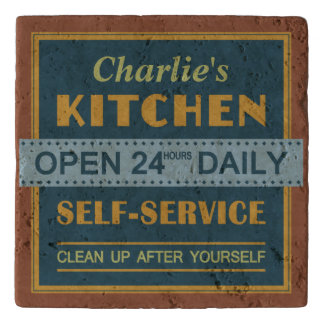 Kitchen – custom name – stone trivets