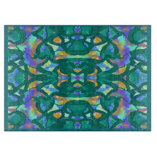 Kitchen Cutting Board on Teal,Gold,Purple,Blue