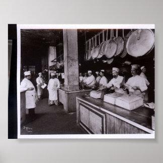 Kitchen Delmonico's Restaurant, New York NY Poster