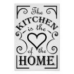 Kitchen design quote poster