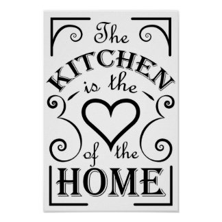 Kitchen design quote poster