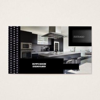 KITCHEN Designs Black Metal Business Card