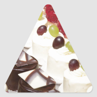 Kitchen Dining Cakes Colorful Photograph Destiny Triangle Sticker