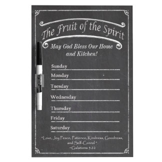 Kitchen Dry Erase Board Fruit of the Spirit #2