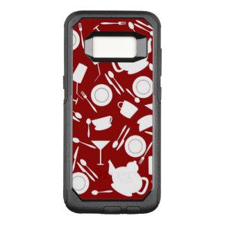 Kitchen Elements Pattern OtterBox Commuter Samsung Galaxy S8 Case