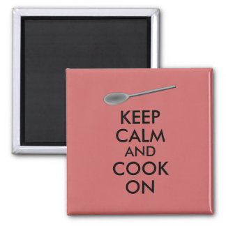 Kitchen Gifts Keep Calm and Cook On Spoon Magnets