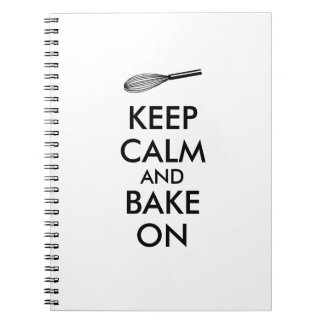 Kitchen Gifts Keep Calm Bake On Recipe Notebook