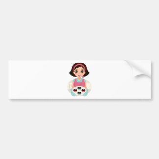 Kitchen girl with Cookies Bumper Sticker