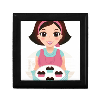 Kitchen girl with Cookies Gift Box