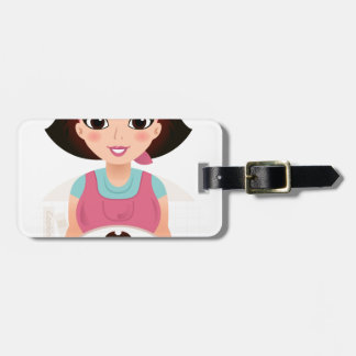 Kitchen girl with Cookies Luggage Tag