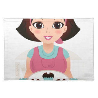 Kitchen girl with Cookies Placemat