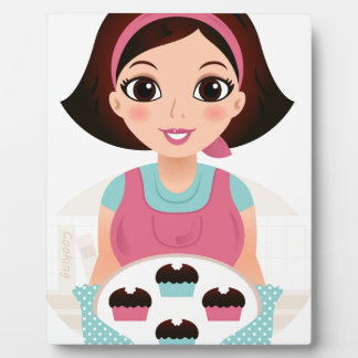 Kitchen girl with Cookies Plaque
