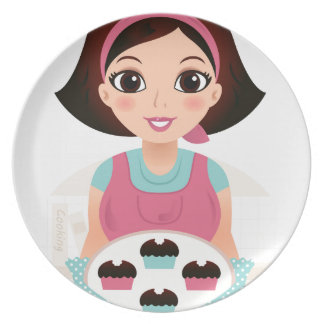 Kitchen girl with Cookies Plate