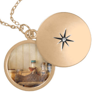 Kitchen - Ingredients - Kitchen bottles Gold Plated Necklace