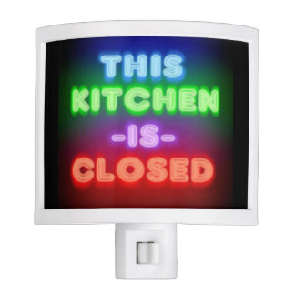 Kitchen is Closed Neon Look Nite Light