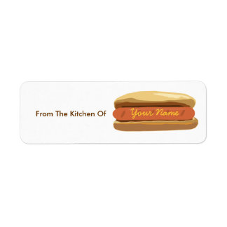 Kitchen Label - Hot Dog Return Address Label