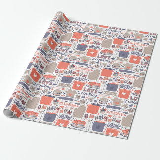 Kitchen love wrapping paper