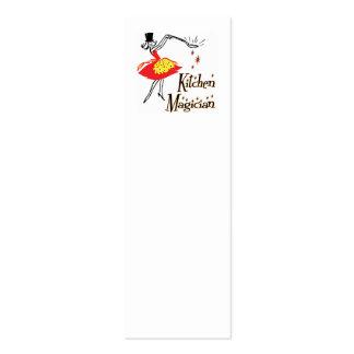 Kitchen Magician Retro Mini Bookmark Business Card