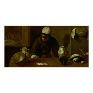 Kitchen Maid with the Supper at Emmaus, c.1618 Poster