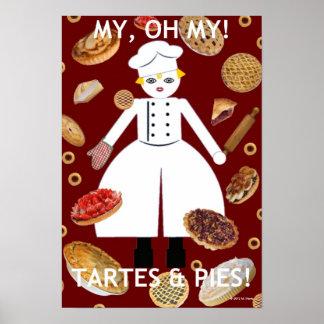 """Kitchen Martzkin """" ...Tartes & Pies"""" Poster"""