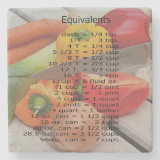 KITCHEN MEASUREMENTS STONE COASTER