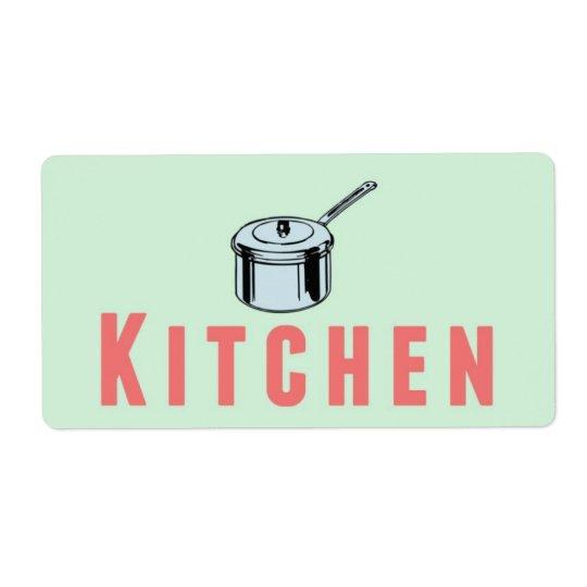 Kitchen Moving Box Label Sticker
