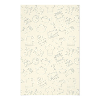 Kitchen Pattern 4 Stationery