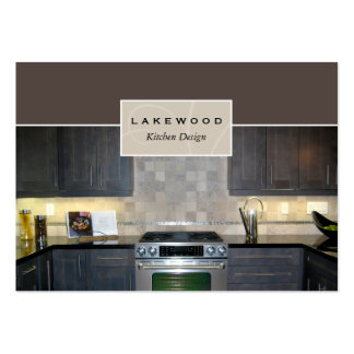 Kitchen Photo Business Card Taupe
