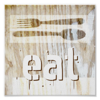 kitchen poster rustic chic typography