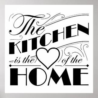 Kitchen quote design poster