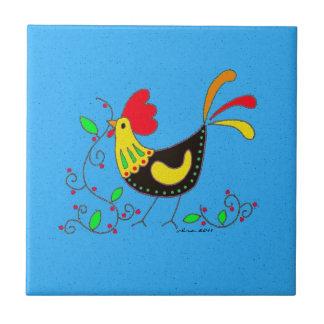 Kitchen Rooster Ukrainian Folk Art Ceramic Tiles