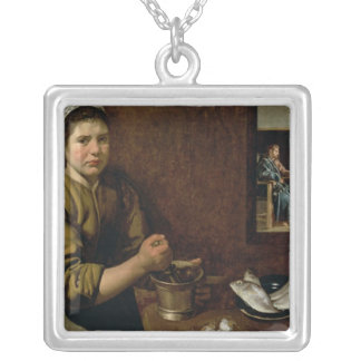 Kitchen Scene Silver Plated Necklace