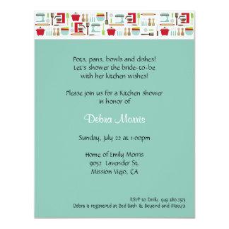 "Kitchen Shower 4.25"" X 5.5"" Invitation Card"