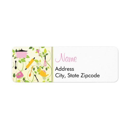 Kitchen Shower Address Label