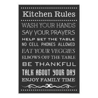Kitchen Sign | Family Rules Sign | Kitchen Rules