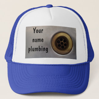 Kitchen sink drain photo prote plumbers trucker hat