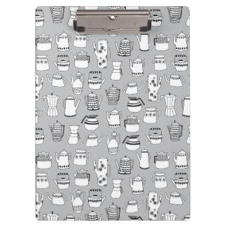 Kitchen Tea Pot Teapot Grey Simple / Andrea Lauren Clipboards