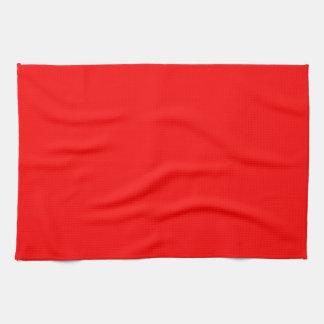 Kitchen / Tea Towel: Plain Red Kitchen Towel