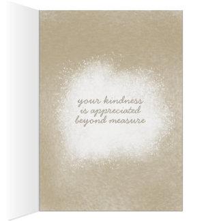 Kitchen thank you card, baking thank you note card
