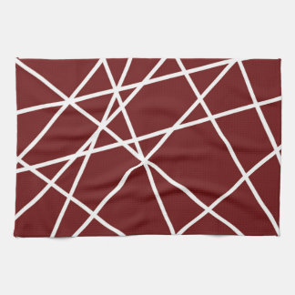 """Kitchen Towel 16"""" x 24"""" WHITE ABSTRACT LINES"""
