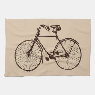 Kitchen towel bicycle bike oatmeal cream