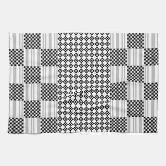 Kitchen Towel Black and White Design