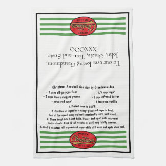 "Kitchen Towel ""Christmas Retro Dish Towel"""