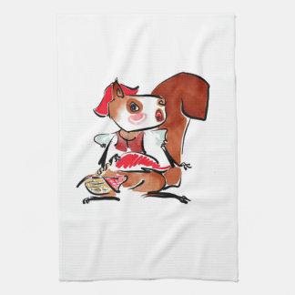 Kitchen Towel - Christmas Squirrel 2