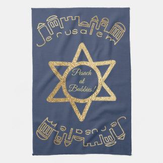 "Kitchen Towel ""Gold Jerusalem """