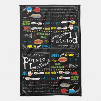 "Kitchen Towel ""Hanukkah Potato Latke Recipe"""